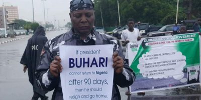 Charlie Boy Leads Protesters In Abuja, Demands For Buhari's Resignation