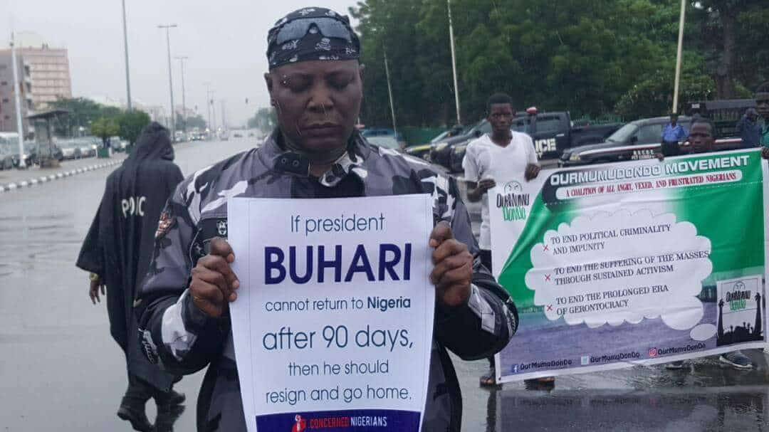Charlie Boy Leads Protesters In Abuja