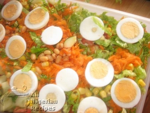 HOW TO MAKE NIGERIAN SALAD