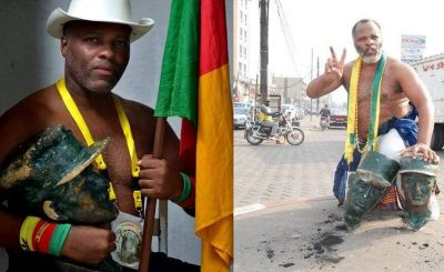 This Cameroonian Nationalist Is Chopping Off Heads Of Colonial Statues